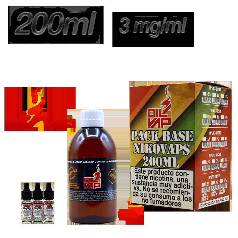 BASE PACK 200ML 40-60 3MG OIL VAP