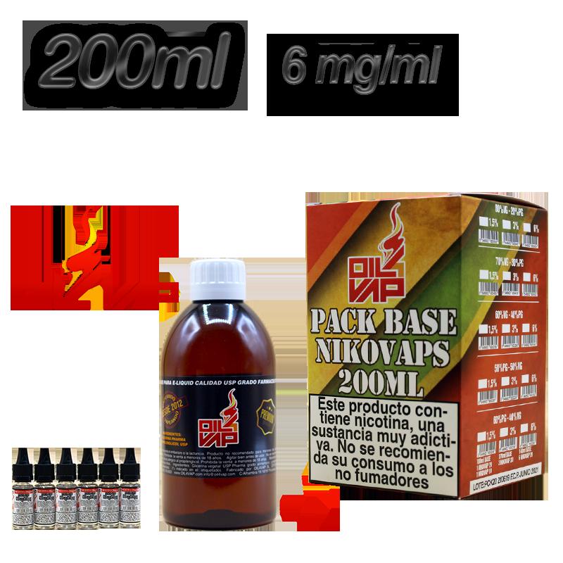 BASE PACK 200ML 40-60 6MG OIL VAP