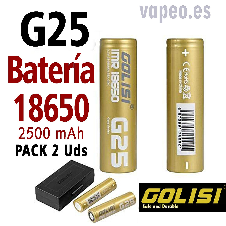 BATERÍA GOLISI g25 18650 PACK