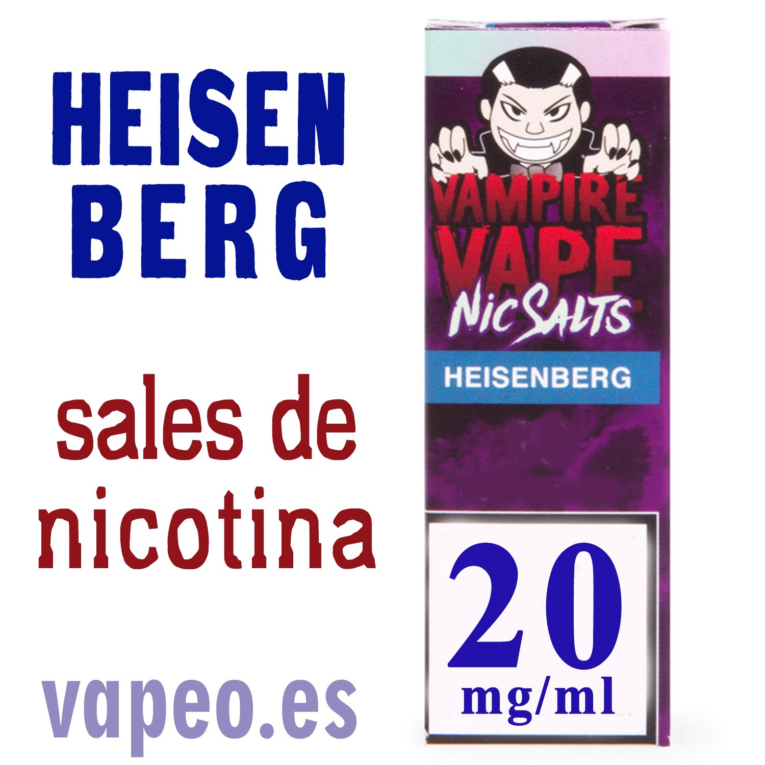 HEISENBERG NIC SALT ELIQUID 10ML 20mg