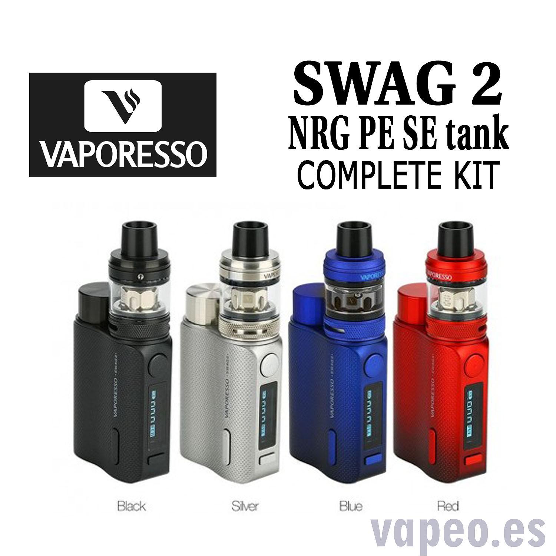 VAPORESSO SWAG 2 COMPLETE KIT NRG PE TANK negro