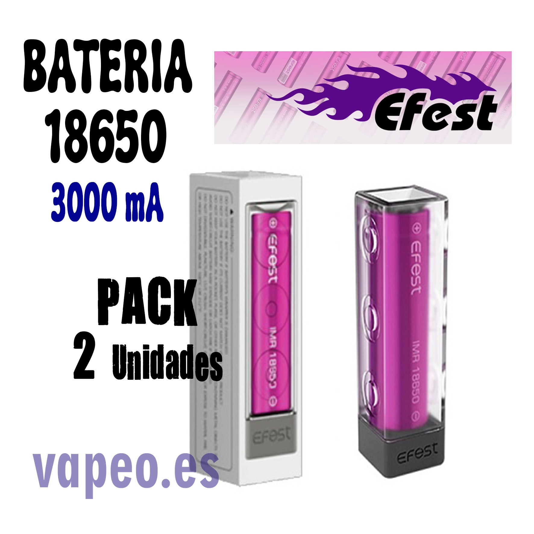 EFEST 18650 3000 ma pack