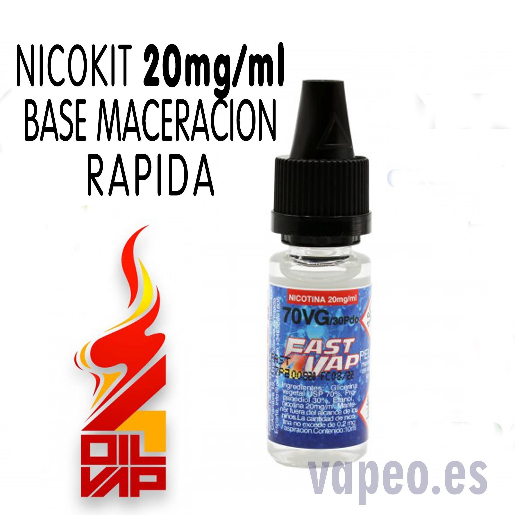 NICOKIT FAST4VAP RAPIDO 20MG BASE 10ML