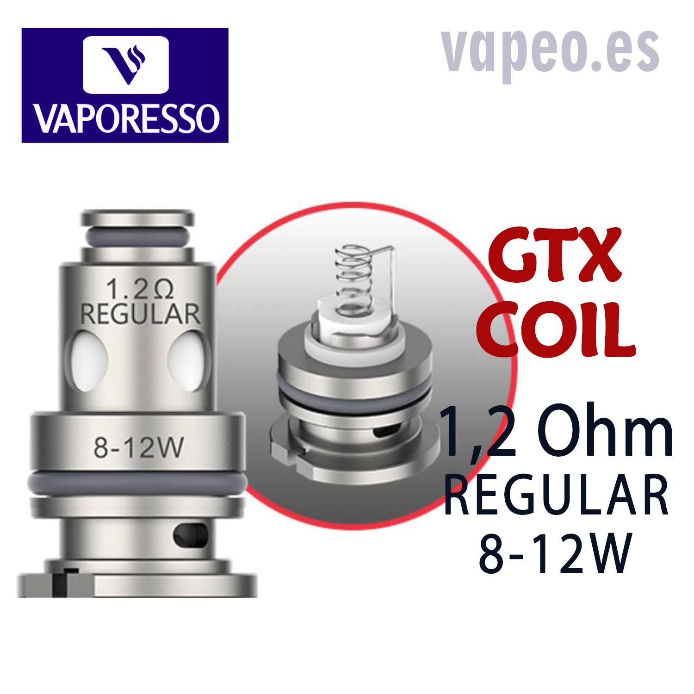 GTX REGULAR  1,2 OHM  COIL  VAPORESSO (Unidad)