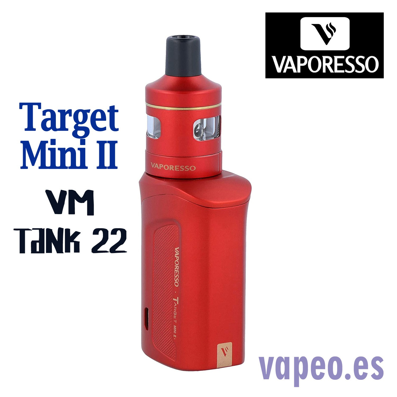 TARGET MINI II MOD+VM TANK  KIT ROJO VAPORESSO