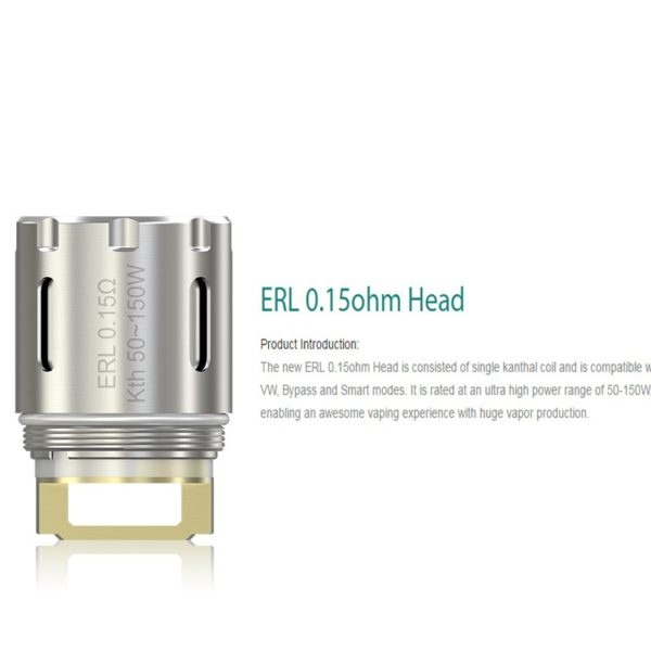 ATOMIZER HEAD ERL 0.15OHM ELEAF