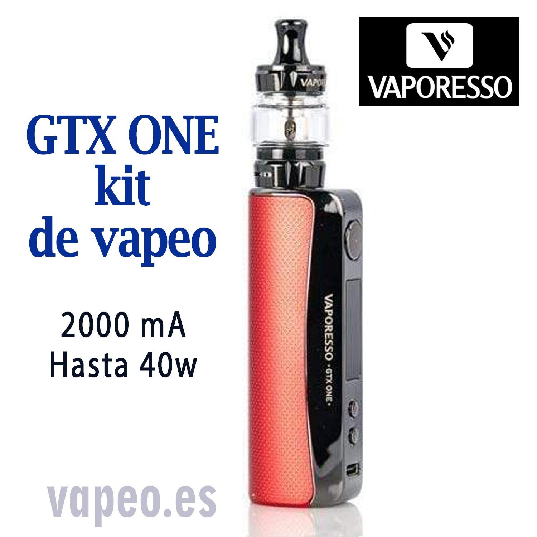GTX ONE KIT 40W (rojo)  VAPORESSO